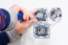 Faktotum Installing Socket Royaltyfria Bilder