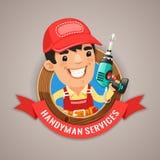 Faktotum Services Emblem Royaltyfri Bild