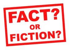 FAKTUM ELLER FIKTION? stock illustrationer