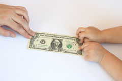 fakturera dollaren arkivfoton