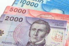 fakturerar den chilenska pesoen Royaltyfri Bild