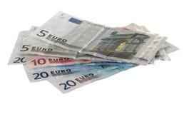 fakturerar den olika euroen royaltyfri foto