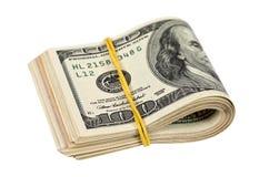 fakturerar den vikta dollaren Royaltyfria Bilder