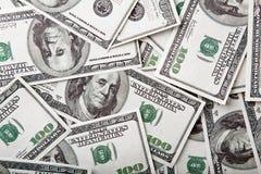 fakturerar dollar hundra Royaltyfri Foto