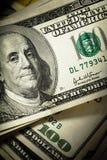 fakturerar dollar hundra Arkivbilder