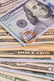 fakturerar dollar hundra Royaltyfria Bilder