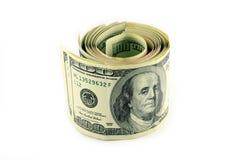 fakturerar dollar hundra royaltyfri bild