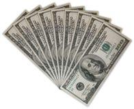 fakturerar dollar hundra Arkivfoto