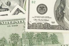 fakturerar dollar hundra Royaltyfri Fotografi