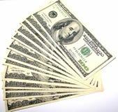 fakturerar dollar hundra Arkivfoton