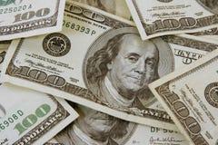 fakturerar dollar hundra en Royaltyfria Foton