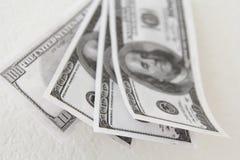 fakturerar dollar hundra en Arkivfoto