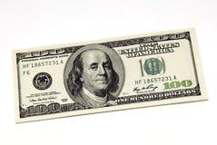 fakturerar dollar hundra en Arkivfoton
