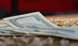 fakturerar dollar hundra en Arkivbilder