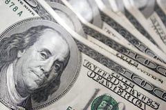 fakturerar dollar hundra en Arkivbild