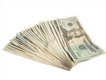 fakturerar dollar tjugo Royaltyfri Bild