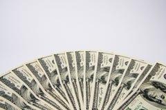 fakturerar dollarventilator hundra Royaltyfri Foto