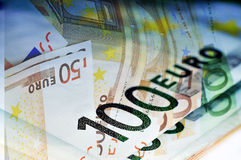 fakturerar euro Royaltyfri Fotografi