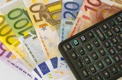 fakturerar euro arkivbilder