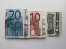 fakturerar euro Arkivfoto