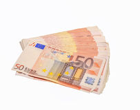 fakturerar euro femtio Royaltyfria Foton