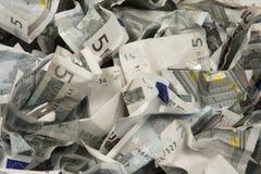 fakturerar euros fem Arkivfoto