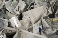 fakturerar euros fem Fotografering för Bildbyråer