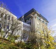 Fakultetbyggnad, universitet av Transylvania, Brasov Arkivfoto