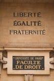 fakultetu prawo Paris Fotografia Stock