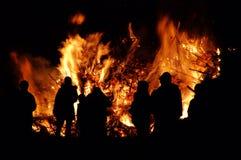 Falò di notte di Walpurgis Fotografia Stock Libera da Diritti