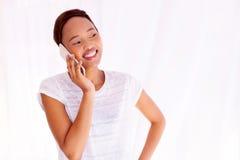 Fala afro-americana da mulher Fotografia de Stock