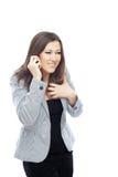Fala através do telefone móvel foto de stock