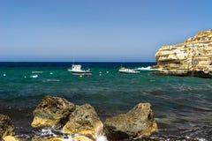 Fala blisko linii brzegowej Gozo Fotografia Stock