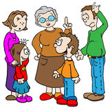 Fala da família Imagem de Stock