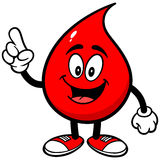 Fala da gota do sangue Imagens de Stock Royalty Free