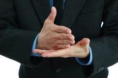 Fala das mãos do homem de negócio Fotos de Stock Royalty Free