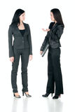 Fala de duas mulheres de negócio Fotografia de Stock