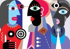 Fala do grupo de pessoas ilustração stock