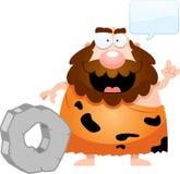 Fala do homem das cavernas dos desenhos animados ilustração royalty free