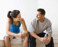 Fala do homem e da mulher Imagens de Stock Royalty Free
