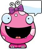 Fala do monstro do bebê dos desenhos animados Fotografia de Stock Royalty Free