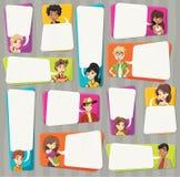 Fala dos adolescentes dos desenhos animados Foto de Stock