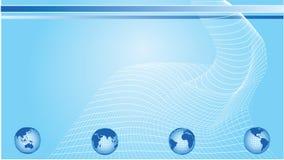 fala globe sieci ilustracji