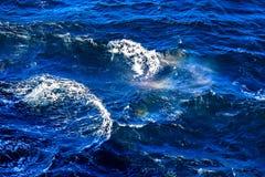 Fala i piana na powierzchni Północny morze Fotografia Royalty Free