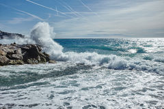 Fala Mediterranian morze Obrazy Stock