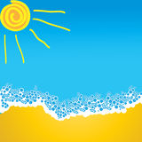 fala morska słońca piasku. Obrazy Stock