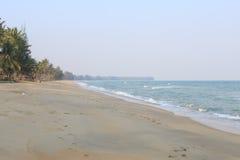Fala morze na piasek plaży Zdjęcia Royalty Free
