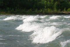 Fala na halnej rzece w lecie Zdjęcie Stock