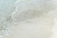 Fala na piasku Obrazy Royalty Free