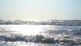 Fala na plaży i morzu zbiory wideo